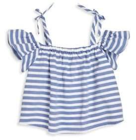 Milly Minis Toddler's, Little Girl's & Girl's Striped Chambray Shirting Eden Top
