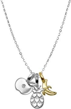 Alex Woo Women's Sienna Diamond, 14K Gold and Silver Mini Fruit Pendant Necklace