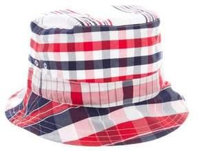Thom Browne Plaid Bucket Hat