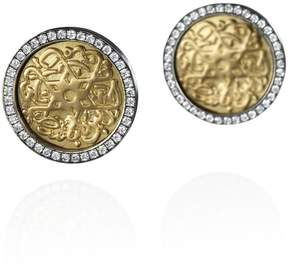 Azza Fahmy Seal Of Solomon Stud Earrings