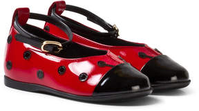 Dolce & Gabbana Red Ladybird First Walker Patent Leather Shoes