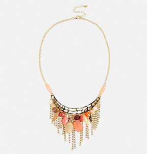 Avenue Coral Fringe Necklace