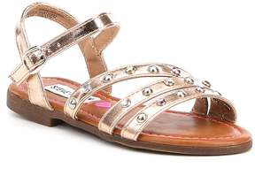 Steve Madden Girls' J-Sunset Metallic Stud Detail Sandals
