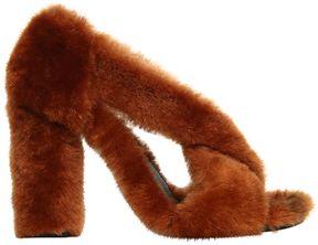 Jil Sander 100mm Merino Fur Sandals