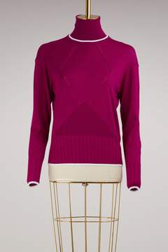 Kenzo Fitted Turtleneck Wool Sweater