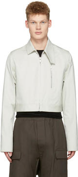 Rick Owens Ivory Cropped Brother Jacket
