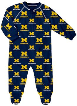 NCAA Baby Michigan Wolverines Team Logo Coverall