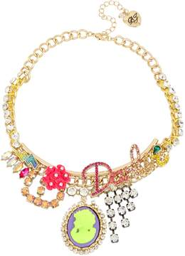 Betsey Johnson GRANNY CHIC DARLIN NECKLACE