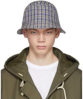 Acne Studios Navy Check Buk Bucket Hat