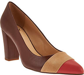 C. Wonder Leather and Suede Pumps with Toe Detail - Jillian