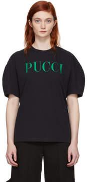 Emilio Pucci SSSENSE Exclusive Black Glitter Logo T-Shirt