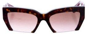 Miu Miu Cat-Eye Half-Rim Sunglasses