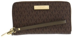 Michael Kors Jet Set Travel Logo Smartphone - Wristlet - Brown/Olive - 32S7GTTE2B-247 - AS SHOWN - STYLE