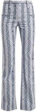 Altuzarra Serge diamond-jacquard cotton-blend trousers