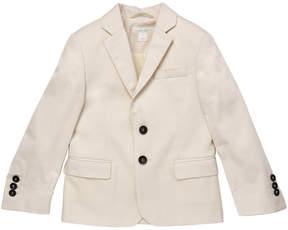 Marie Chantal Boys Cotton Suit Jacket - Off White