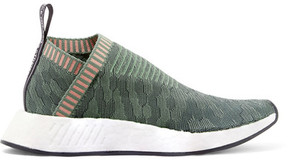 adidas Nmd_cs2 Primeknit Slip-on Sneakers - Dark green