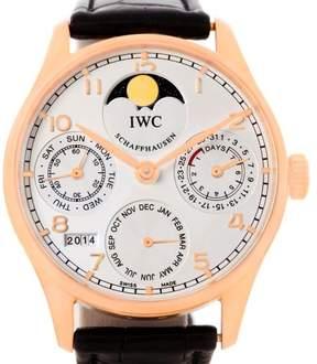 IWC Portuguese IW502213 Perpetual Calendar Rose Gold 42.3mm Mens Watch