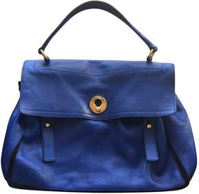 Saint Laurent Muse Two leather satchel - BLUE - STYLE