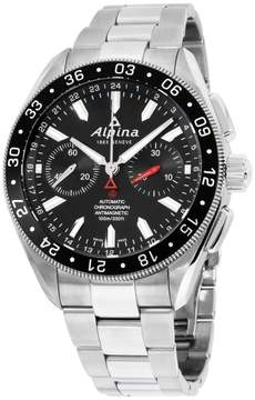 Alpina Alpiner AL860B5AQ6B Black Dial Stainless Steel 44mm Mens Watch