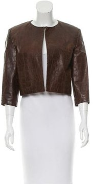 Andrew Marc Cropped Leather Jacket