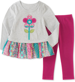 Kids Headquarters 2-Pc. Floral-Graphic Tunic & Leggings Set, Little Girls (4-6X)
