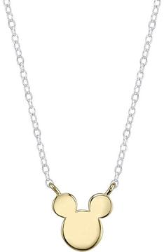 Disney Two-Tone 10K Gold and Sterling Silver Mickey Mouse Necklace