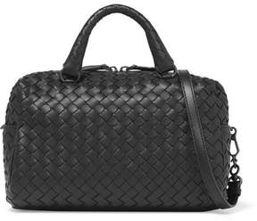 Bottega Veneta - Boston Mini Intrecciato Leather Tote - Black