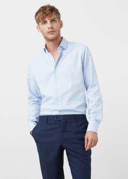 Mango Outlet Slim-fit structured cotton shirt