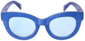 MonnaLisa Glittered Acetate Sunglasses
