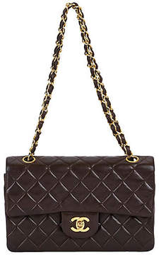 One Kings Lane Vintage Chanel Chocolate 9 Double-Flap Bag - Vintage Lux