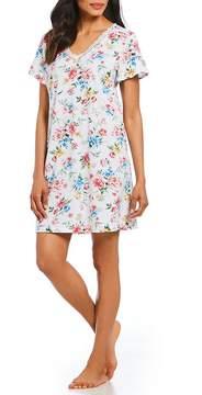 Karen Neuburger Floral-Print Knit Sleepshirt