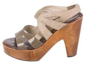 Robert Clergerie Clergerie Paris Slingback Platform Sandals