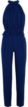 Emilia Wickstead Everette Wool-crepe Jumpsuit - Royal blue