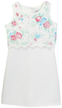 Blush by Us Angels Sleeveless Popover Print Lace Dress (Big Girls)