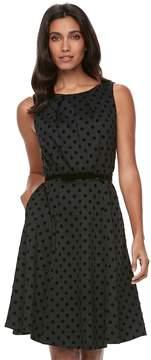 Elle Women's ElleTM Polka-Dot Fit & Flare Dress