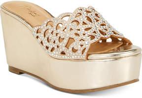 Thalia Sodi Jacklyn Slip-On Platform Wedge Sandals, Created for Macy's Women's Shoes