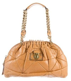 Marc Jacobs Quilted Leather Shoulder Bag - BROWN - STYLE