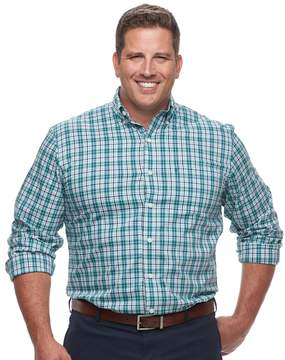 Izod Big & Tall Advantage Sportflex Regular-Fit Stretch Button-Down Shirt
