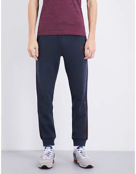 BOSS GREEN Logo-embroidered tapered mid-rise cotton jogging bottoms