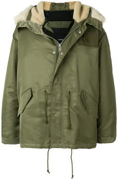 Calvin Klein lined hooded jacket