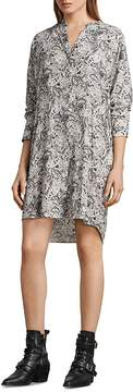 AllSaints Cayla Paisley Print Shirt Dress