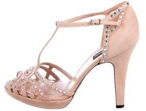 Sonia Rykiel Suede Embellished Sandals
