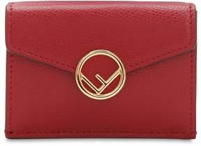 Fendi Embossed Leather Wallet W/ Metal Logo