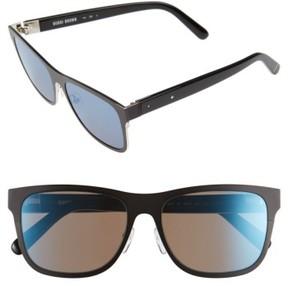 Bobbi Brown Women's 'The Zach' 56Mm Retro Sunglasses - Matte Black