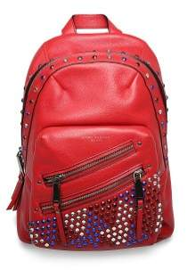 Marc Jacobs Women's Leather 'Pyt' Jewled Studded Backpack Red - RED - STYLE