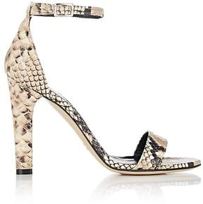 Barneys New York Women's Stamped Leather Ankle-Strap Sandals