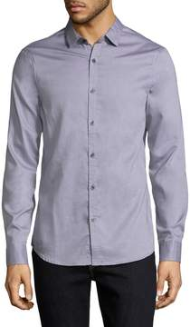 Armani Exchange Men's Solid Cotton Sportshirt