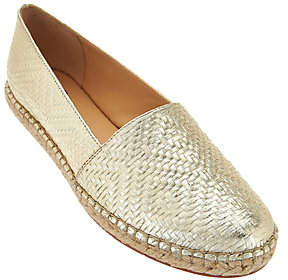 C. Wonder As Is Embossed Leather Espadrilles - Margot
