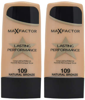 Max Factor Natural Bronze Lasting Performance Foundation - Set of Two