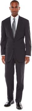 Croft & Barrow Men's Classic-Fit Striped Black Unhemmed Suit